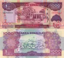 Somaliland 1000 Shillings (2011) - New Note/Ship/Goat Herd - Somalia