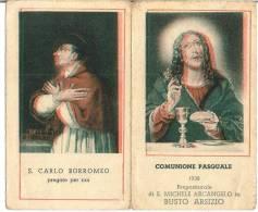 COMUNIONE PASQUALE - BUSTO ARSIZIO - CHIESA DI S. MICHELE ARCANGELO - ANNO: 1938 Mm. 66X111 - A - Religione & Esoterismo