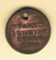 ALEMANIA - GERMANY - BRUNSWICK WOLFENBUTTE  1 Pfennig 1781 KM996 - [ 1] …-1871 : Estados Alemanes