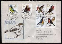 A1623) Singvögel Brief DDR Mi.2388-2393 Von Greiz 11.01.1979 - Sperlingsvögel & Singvögel
