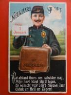 """Pk Antwerpen, Merksem """" Nieuwjaarsgroet Uit Merxem, Met Verborgen Tekst (zie Foto) """" Gelopen Kaart - Antwerpen"""
