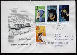 A1624) Tierpark Berlin Brief DDR Mi.1617-1620 Von Greiz 6.10.1970 (FDC) - Briefmarken