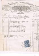 PORCELAINES CRISTAUX VERRERIE- MAISON  BARNEOUD RUE DE LA PAIX GRENOBLE - 1897 - France