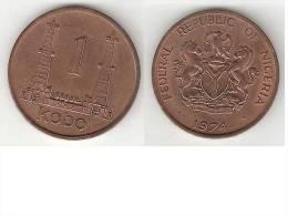 Nigeria 1  Kobo 1974  Km 8.1   Unc !!! - Nigeria