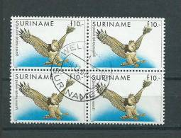 1986 Suriname 4x Birds Of Prey,roofvogels Used/gebruikt/oblitere..cat. Value 60 Euro...LOW START!!!!