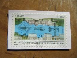 1245 Liaison Postale Avion 1er Vol Nancy Lunéville Belle Oblitération France 2012 Poste Aérienne 2012 - Airplanes