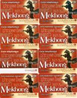 CARTES PREPAYEES ETHNIQUES ASIE   SYMACOM  7,5e & 15e  Mekhong  (lot De 8)  5149 - Prepaid Cards: Other