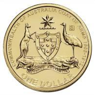 """AUSTRALIA  1 DOLLAR $ 2.008  SC/UNC  """"S""""     DL-6184 - Decimal Coinage (1966-...)"""