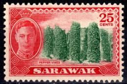 Sarawak - 20 Cents, Kelemantan Rice Barn - George V - 1950 - SG180 - MH - Sarawak (...-1963)