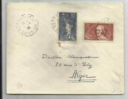 1938 - ENVELOPPE De BEAUNE (COTE D' OR) Pour ALGER - France