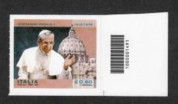 2012 GIOVANNI PAOLO I  0,60c   CODICE A BARRE MNH** - 6. 1946-.. República