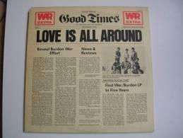 """33 Tours 30 Cm -  WAR & ERIC BURDON   - ABC 988  """" LOVE IS ALL AROUND """" + 5 ( U.S.A. ) - Sonstige - Englische Musik"""