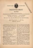 Original Patentschrift - Th. Marshall In Dittonden , Long Ditton , 1886, Sicherheitslampe , Lamp , Lampe , Schiff , Ship - Lamps