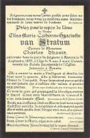 Doodsprentje - Elisa-Marie Catherine-Hyacinthe VAN STRATUM - Epouse Charles Dhanis 1885 - Deurne - Devotion Images