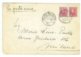 ERITREA  - LETTERA  - ANNO 1936  - ANNULLO POSTA MILITARE  - VIAGGIATA  - MARCOFILIA - Erythrée