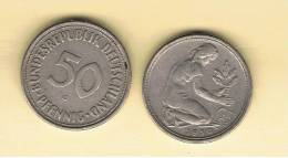 ALEMANIA - GERMANY - Republica Federal  50 Pfennig 1950G - 50 Pfennig