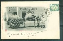 Djibouti - Distribution D'eau   , Cpa Voyagé En 1907 - Ax3309 - Djibouti