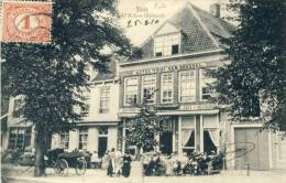 Sluis / L´Ecluse - Top Kaart - Hôtel T´Hof Van Brussel - Geanimeerd -1910 ( Verso Zien ) - Sluis