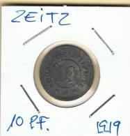 ALEMANIA - GERMANY - ZEITZ 10 Pfennig 1919 - [ 1] …-1871 : Estados Alemanes