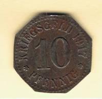 ALEMANIA - GERMANY -  WIESBADEN  10 Pfennig 1917 - [ 1] …-1871 : Estados Alemanes