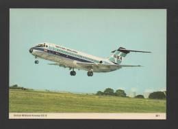 POSTCARD AIRPLANE DC-9 BRITISH MIDLAND AIRWAYS UK AIRCRAFTS AVIONS AVIONES JET - 1946-....: Moderne