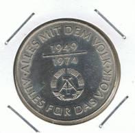 ALEMANIA - GERMANY -  REP. DEM.  10 Mark 1974A  KM50 - [ 6] 1949-1990 : RDA - Rep. Dem. Alemana