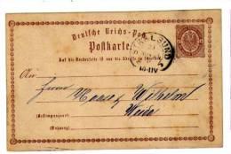 Hufeisenstempel Stralsund 29. November 1872 Auf Karte Nach Weida - Deutschland