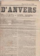 Krant Journal   Journal D´ Anvers   Vendredi 3/08/1866    Scan 3175 - Historical Documents