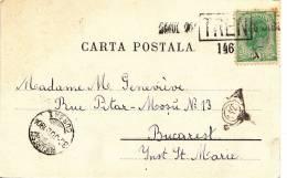 RARE !!! ROMANIA - KURORT CALIMANESCI - CACHET 30 JUL 1904 TREN 146 - GRIFFE DATEE-  MARCOPHILIE - Rumänien