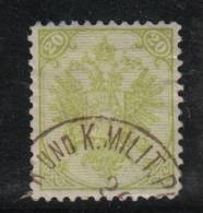 AP282 - BOSNIA ERZEGOVINA 1894 , 20 Kr N. 7 Dent 11 1/2  Used - Bosnia Erzegovina