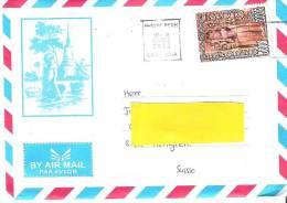 Brief Von PHNOM PENH  08 OCT. 2012 In Die Schweiz - Cambodge
