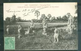 Cambodge - Kompong-cham - Lions Et Garudas Défendant L'entrée Du Temple De Vat-Nokor - Ax3313 - Cambodia