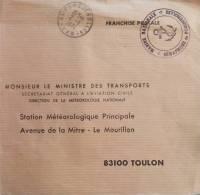 Cachet Marine Nationale Sémaphore De PORQUEROLLES 1974 - Seepost