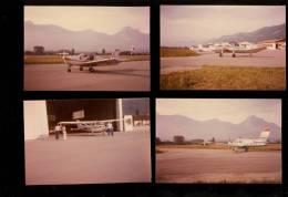 5 Photographies Aviation Avion Cessna Aérodrome Le Versoud Saint Martin D'Heres Isère Grenoble - Aviazione