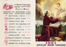 Calendarietto - Apostoliche Missione Francescana  - Roma 1961 - Calendriers