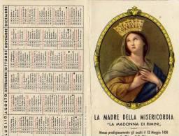 Calendarietto - La Madre Della Misericordia - La Madonna Di Rimini 1954 - Tamaño Pequeño : 1941-60