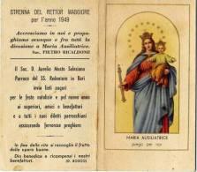 Calendarietto - Maria Ausiliatrice 1949 - Calendriers