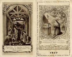 Calendarietto - Orfanotrofio Padri Concezionisti - Saronno 1957 - Tamaño Pequeño : 1941-60