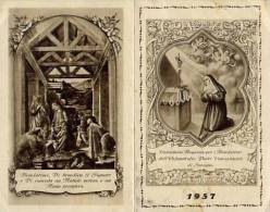 Calendarietto - Orfanotrofio Padri Concezionisti - Saronno 1957 - Calendarios