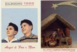 Calendarietto - Pia Opera Caritas Francescana - Roma 1962 - Petit Format : 1961-70