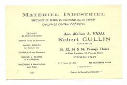 Carte De Visite , Robert Cullin - Matériel Industriel - Paris (75) - Cartes De Visite