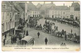 "Postkaart / Carte Postale ""Poperinge - Artillerie Anglaise Sur La Grande Place - Campagne De 1914"" - Poperinge"