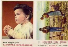 Calendarietto - Villaggio Degli Orfani - Padre Marcello - Roma 1961 - Calendriers