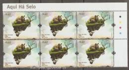 Portugal Environnement Rhinocéros X 6 Coin De Feuille 2011 ** Environment Rhino X 6 Corner Sheet ** - Rhinozerosse