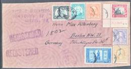 U.S. COVER To Germany  FRONT ONLY  With 457, 620, 622, 623, 587, 619, 489 - Covers & Documents