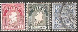 Irlanda 1922/40 Usato - N° 3 Valori - 1922-37 Stato Libero D'Irlanda