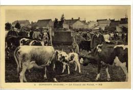 Carte Postale Ancienne Corbigny - Le Champ De Foire - Marché Aux Boeufs, Commerces - Corbigny