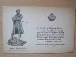 Général FAIDHERBE - Statue érigée à Bapaume - Personen