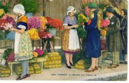 CPSM NICE (Alpes Maritimes) - Le Marché Aux Fleurs - Markets, Festivals