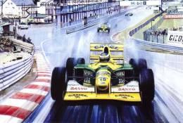 Schumacher´s Benetton At Spa - Michael Turner Artwork -   Postcard China - Grand Prix / F1